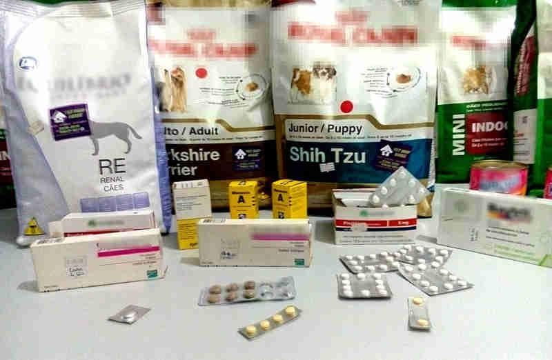 Diversos produtos apreendidos tinham validade vencida e polícia vê riscos aos animais (Foto: Polícia Civil/Divulgação)