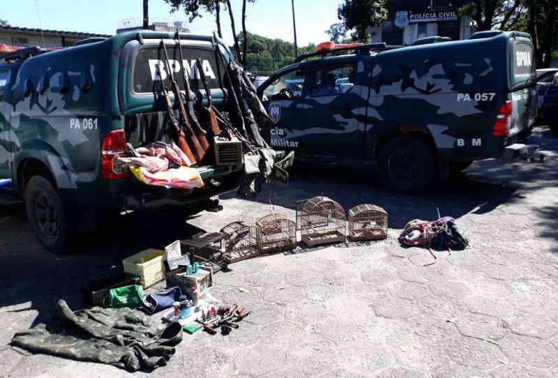 Cinco pessoas são detidas por caçar em reserva biológica de Cariacica, ES