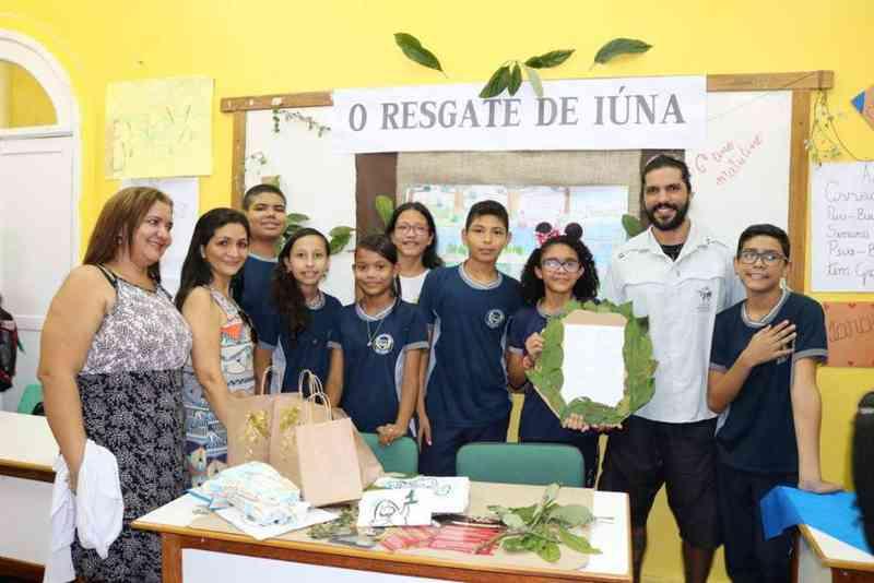 Estudantes de Manaus escolhem nomes para peixes-bois que serão soltos na natureza