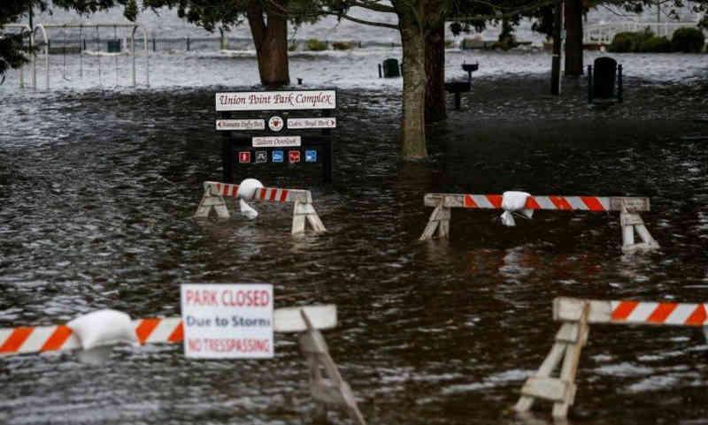 Aquários foram abandonados com iminente chegada do furacão Florence. (Foto: Eduardo Munoz / Reuters)