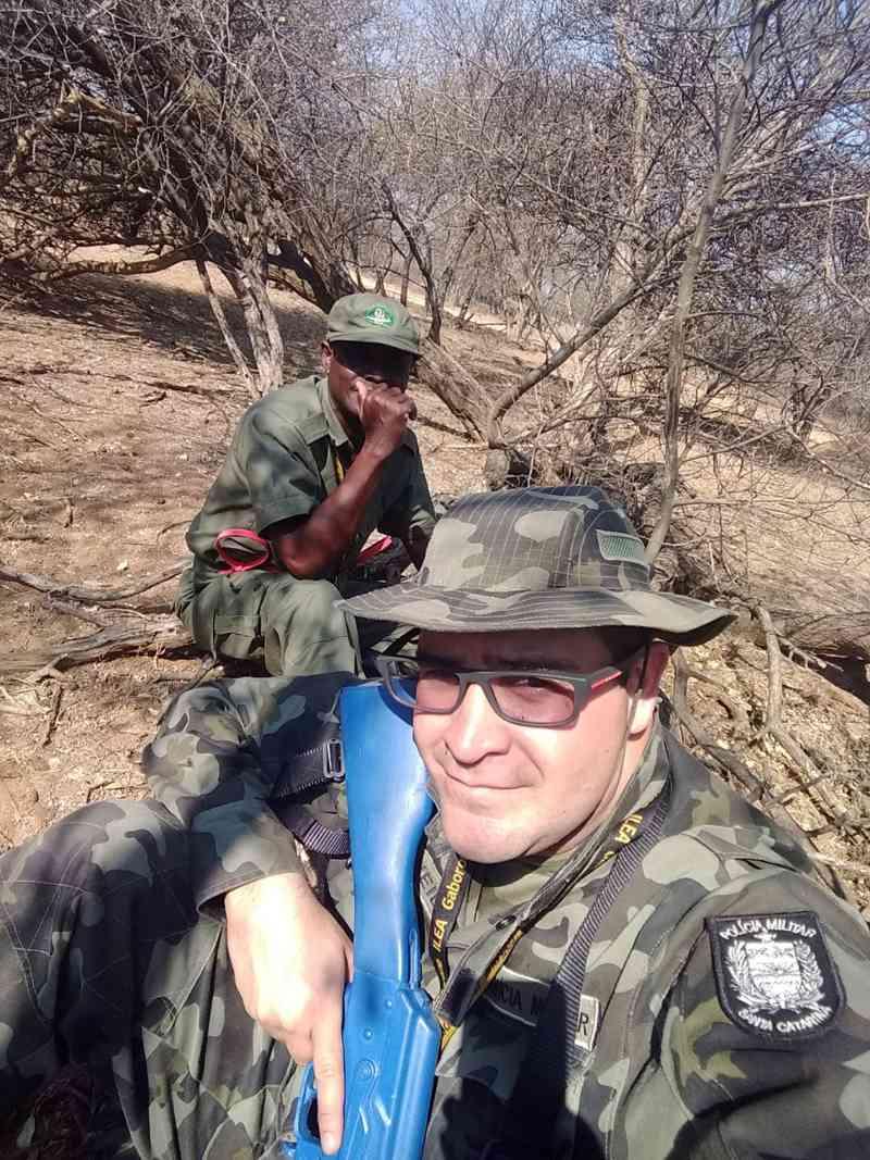 Policial esteve na cidade de Gaborone, Botswana, África | Foto Divulgação/PMSC