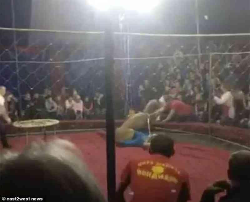 Leoa explorada em circo ataca criança de 4 anos durante espetáculo na Rússia   VÍDEO