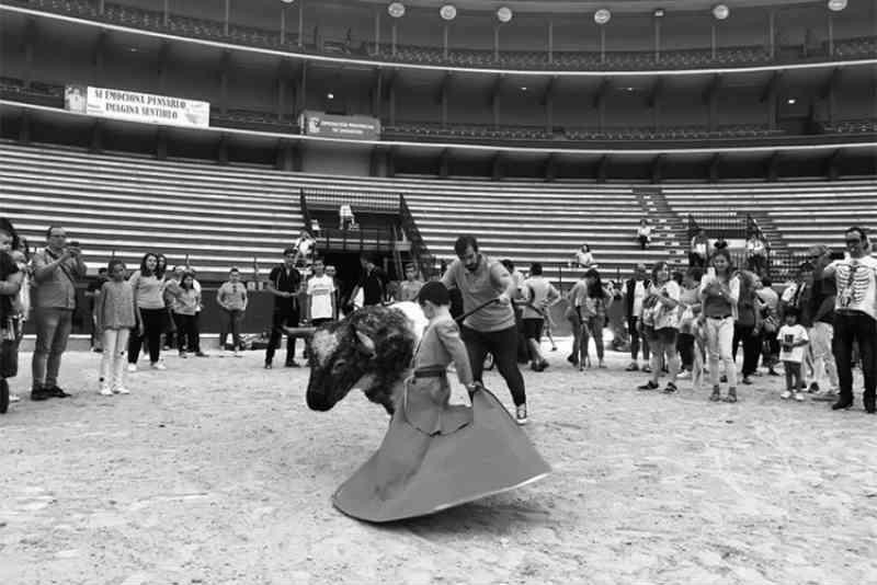 A prefeitura de Jaraba, na Espanha, organiza uma jornada de tauromaquia para menores