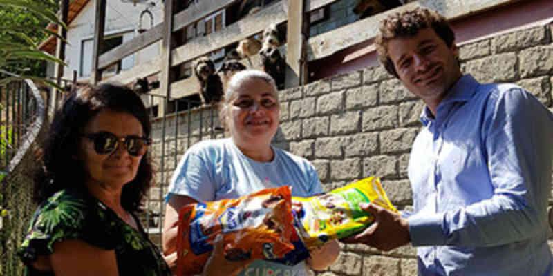 Procon entrega quase meia tonelada de ração arrecadada em campanha em Petrópolis, RJ