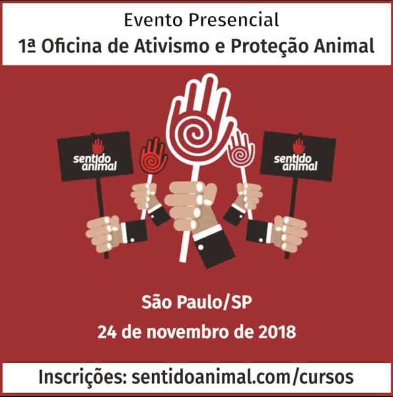 1ª Oficina de Ativismo e Proteção Animal acontece no próximo dia 24, na OAB em SP