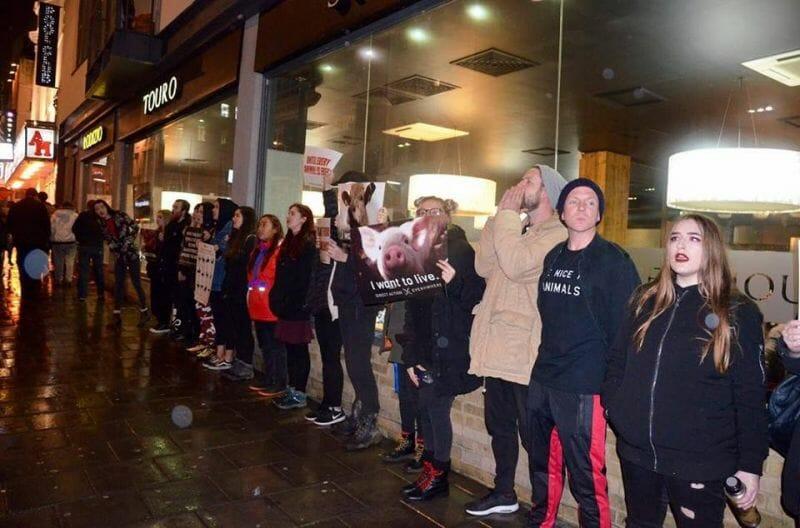 Ativistas veganos fazem clientes de churrascaria ouvir gritos de dor de bois massacrados