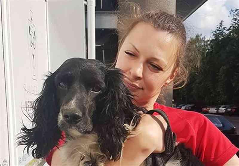 Mulher encontra cão que foi atirado ao rio com peso ao pescoço; vídeo
