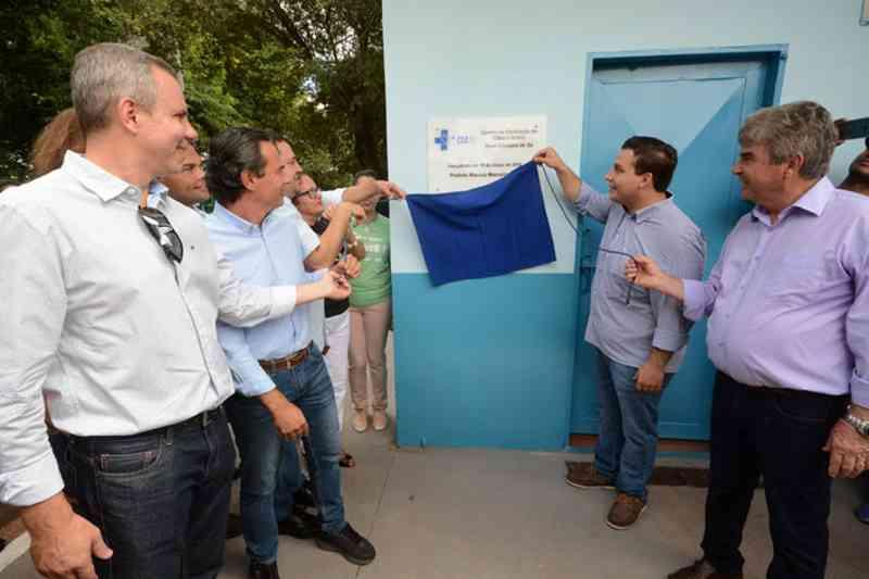 Prefeito Marcos Trad (PSD) prometeu construção da UPA Vet em seis meses, no lançamento Centro de Castrações de Cães e Gatos Sueli Craveiro de Sá, em março de 2018 - Foto: Arquivo/Correio do Estado
