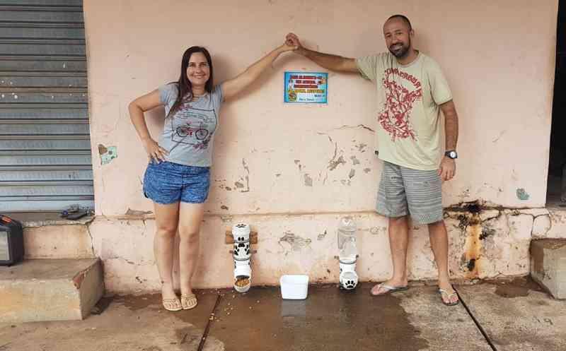 A o dispositivo simples e de baixo custo foi criado pelo casal com canos de PVC. — Foto: Arquivo pessoal