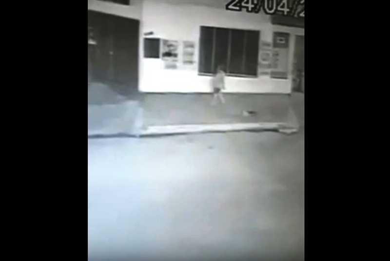 Câmera flagra mulher arrastando gato preso a corda em Cáceres, MT