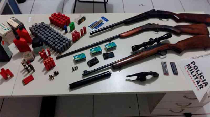 Acusado de atirar em cachorro é preso com arsenal na zona rural de Frutal, MG