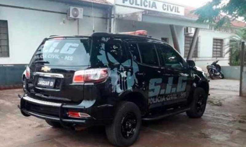Fachada da delegacia de Polícia Civil do município (Foto: Rio Brilhante News)