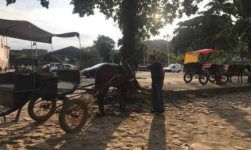 O fim dos veículos com tração animal ganha força em Paraty. Foto: Divulgação