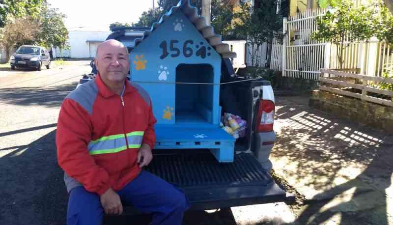 Projeto constrói casinhas para cachorros abandonados em Cachoeirinha, RS