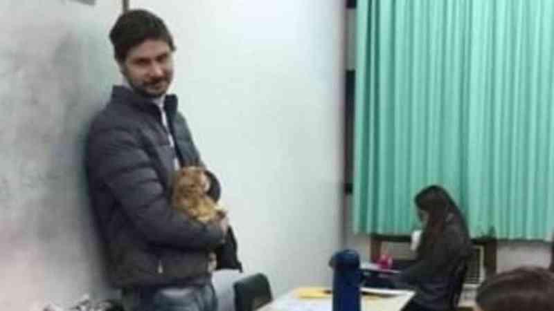 Professor cuida de gatinho machucado para aluna fazer prova em universidade no RS