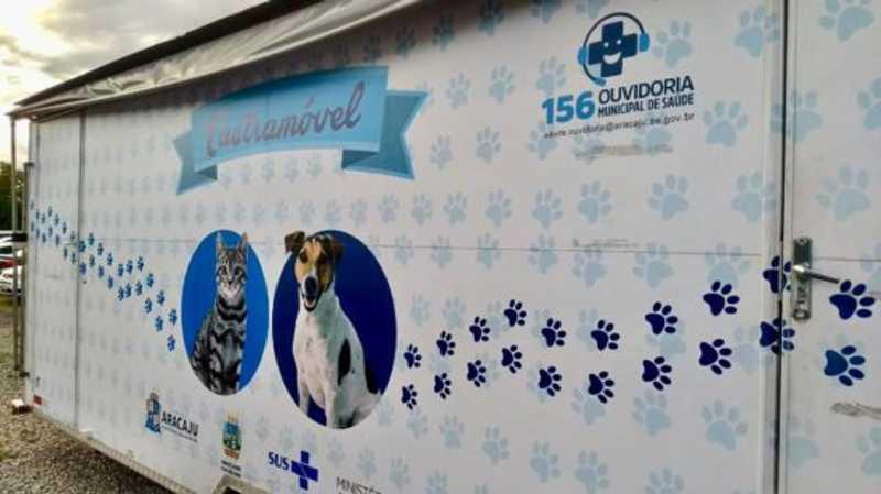 O Castramóvel é uma clínica móvel que realiza esterilização de cães e gatos machos (Foto: Ascom/SMS)