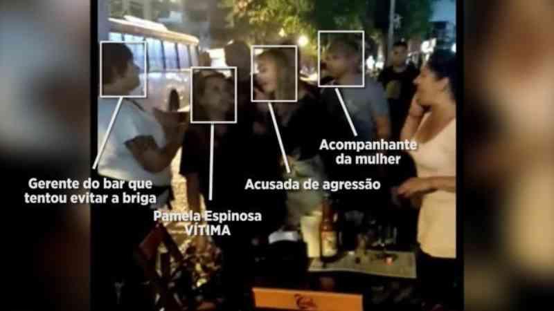 Entenda: agressão à mãe e filha em bar foi flagrada por pessoas da mesa ao lado. - Foto: Reprodução
