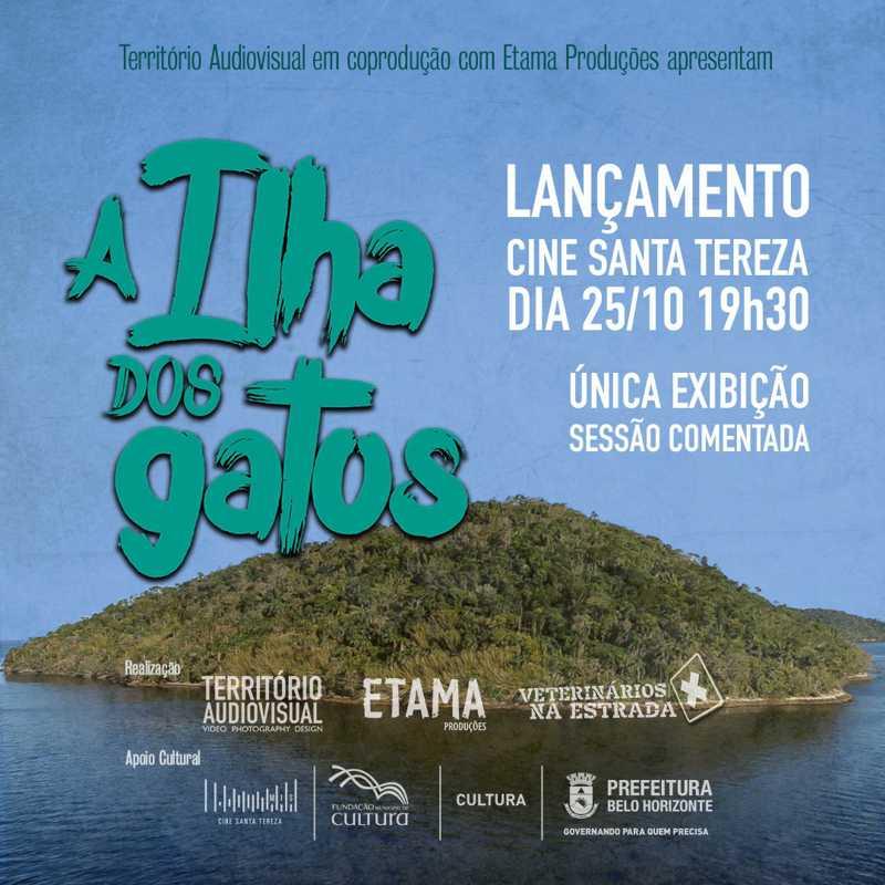 Documentário 'A Ilha dos Gatos' será exibido em Belo Horizonte