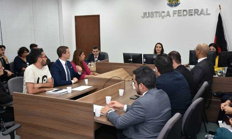 Justiça Federal celebrou audiência de conciliação pra resolver situação da elefanta Lady — Foto: Divulgação/JF-PB