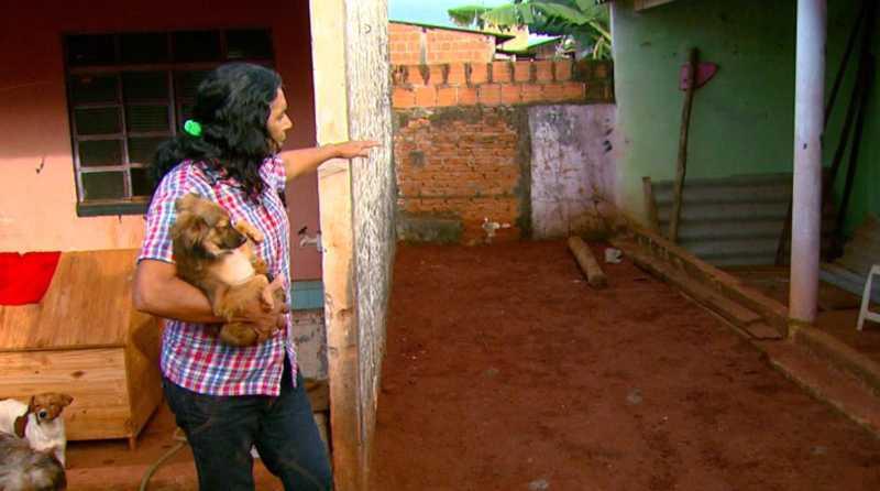 Verônica recolhe animais de rua há 10 anos em Araraquara — Foto: Arquivo/EPTV