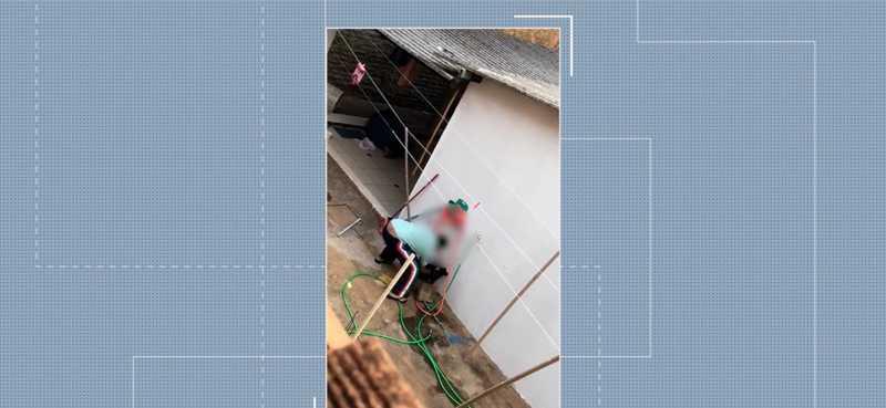 Caso de maus-tratos a animal foi registrado em Presidente Prudente — Foto: Reprodução/TV Fronteira