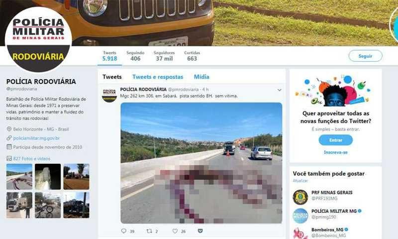 Tweet foi publicado na manhã desta segunda-feira no perfil da PMRv (foto: Reprodução da internet/Twitter)