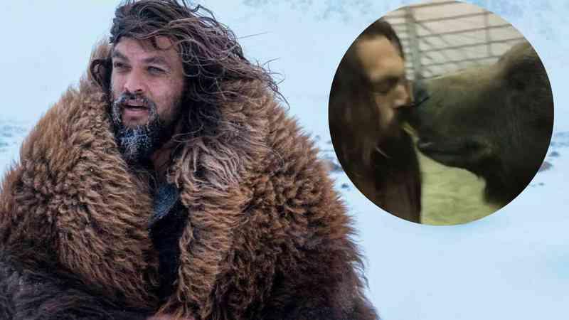Jason Momoa é criticado por vídeo com urso e PETA pede que ator se recuse a contracenar com animais selvagens