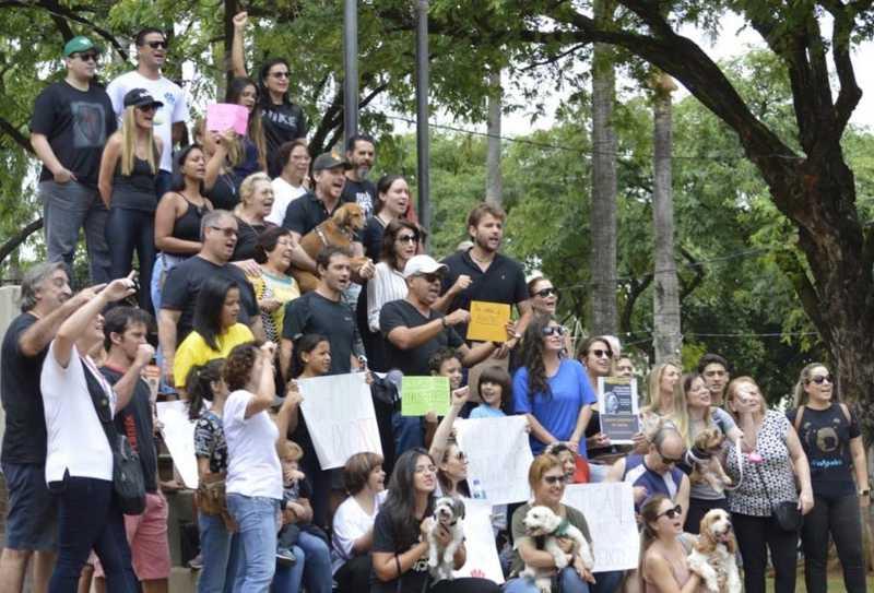 Belo Horizonte tem manifestação contra grupo criminoso que organizava rinha de pit bull em São Paulo