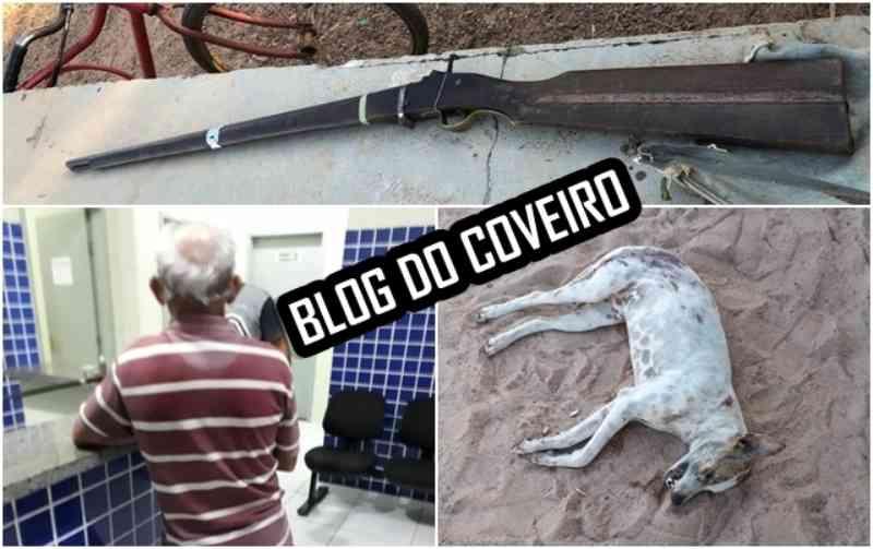 Lavrador é preso por matar cachorro com tiros de espingarda em Luís Correia, PI