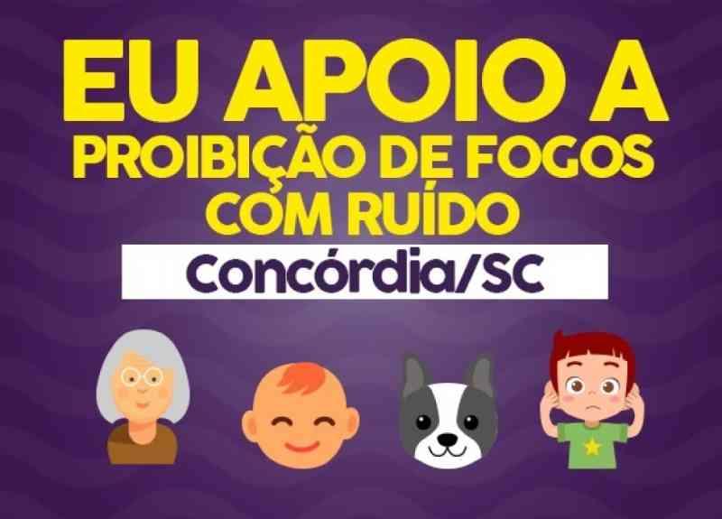 ConAnimal já tem quase 3 mil assinaturas para projeto contra fogos com ruído em Concórdia, SC