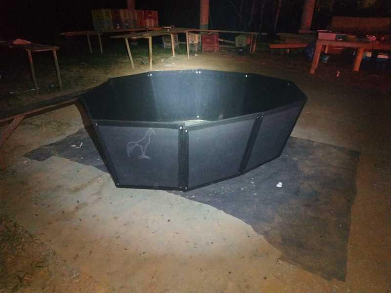 Pm flagrou prática ilegal de rinha de galo em São João Batista, SC. — Foto: Divulgação/PMSC