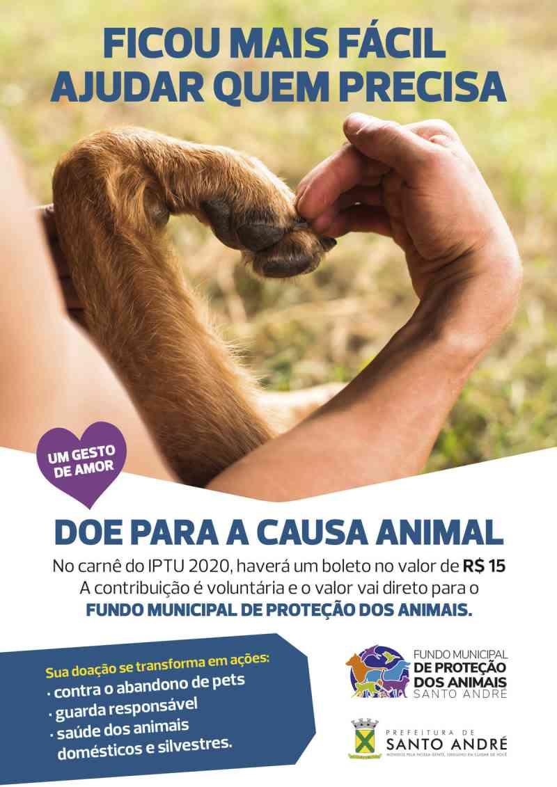 Contribuição voluntária em boleto do IPTU ajuda a causa animal em Santo André, SP