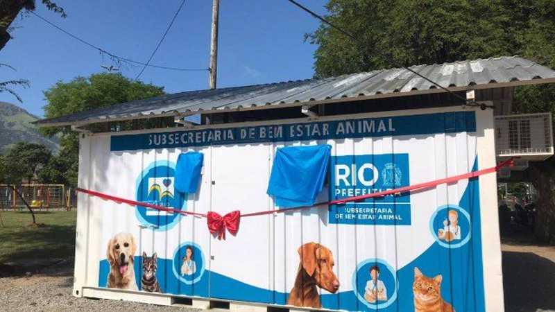 Clínica veterinária para atendimento gratuito de cães e gatos é inaugurada em Bangu, no Rio