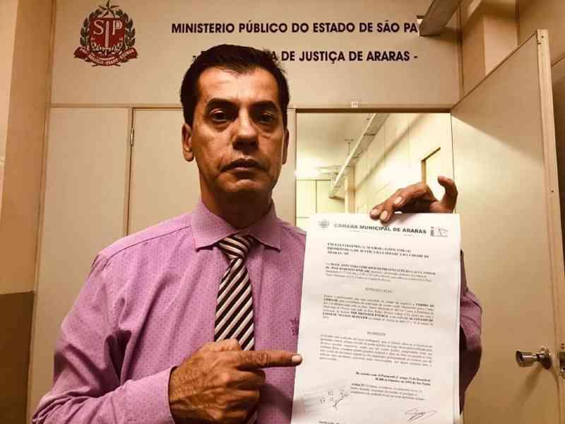 Vereador protocola no MP pedido de liminar para o cancelamento do rodeio no ginásio de esportes de Araras, SP