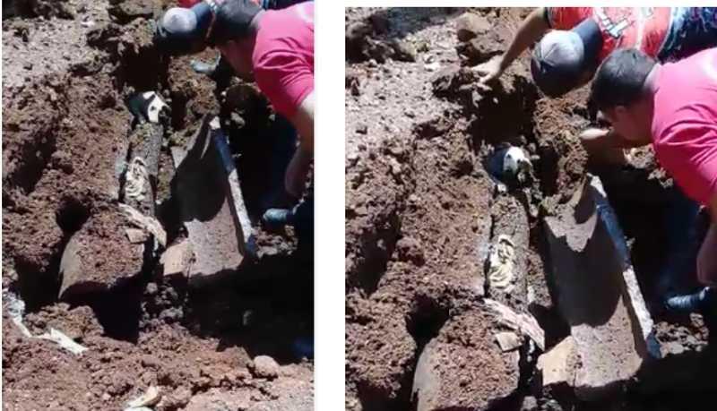 Corpo de Bombeiros resgata cachorro preso em tubulação de esgoto