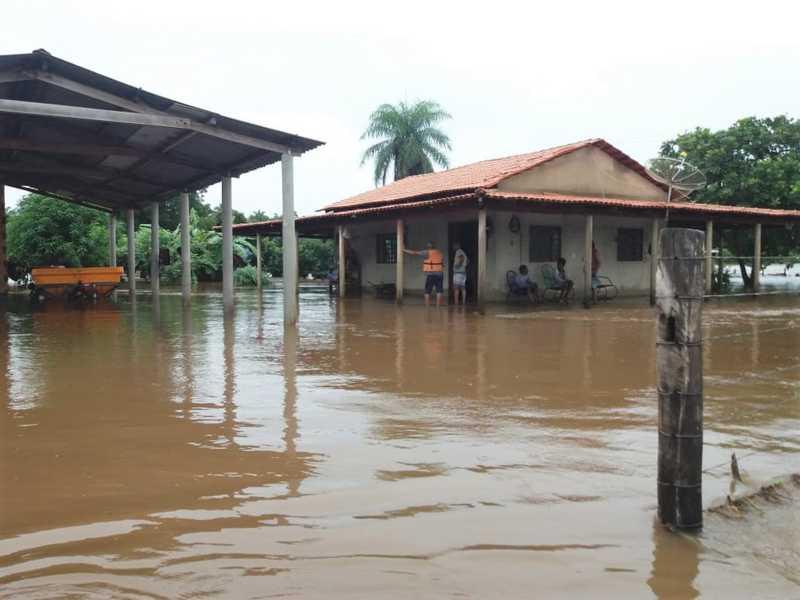 Região norte do Tocantins sofre com fortes chuvas — Foto: Corpo de Bombeiros/Divulgação