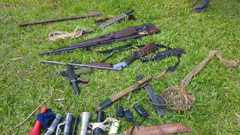 Caçadores são presos no Parque Nacional da Serra do Itajaí, em Indaial, SC
