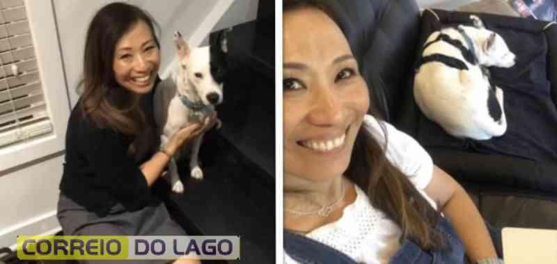 Mulher com medo de cães decide adotar cachorro que tem medo de pessoas e criam uma linda amizade