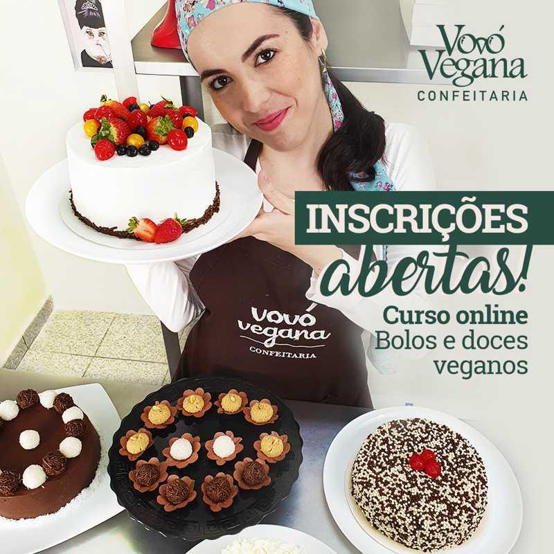 Curso online ensina a preparar bolos e doces veganos sem sair de casa
