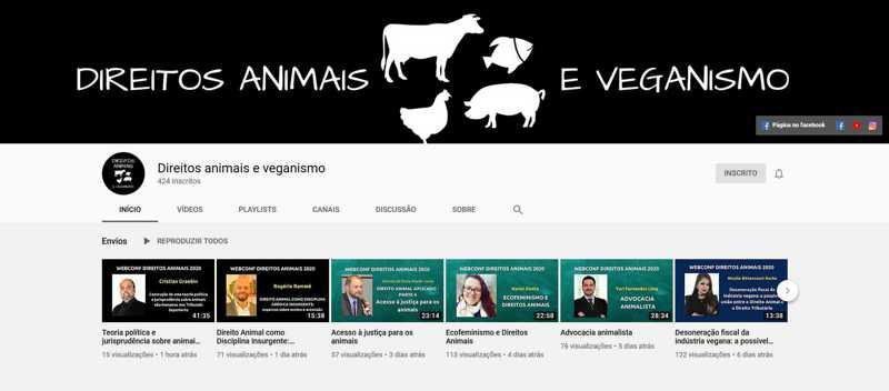 Direito, literatura, filosofia, veterinária… Novo canal no YouTube traz palestras multidisciplinares sobre a questão animal