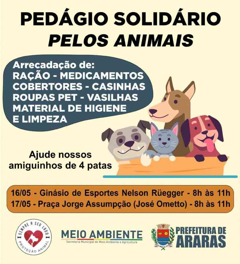Prefeitura de Araras (SP) realiza pedágio solidário em prol da causa animal