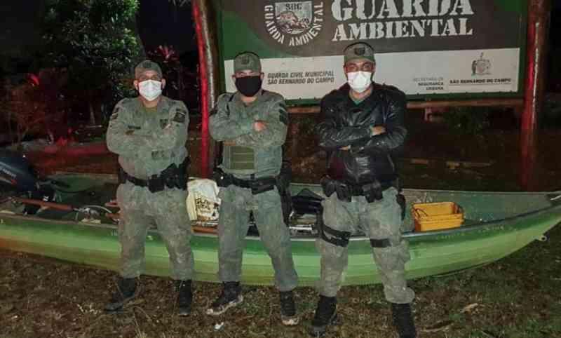 Guarda Ambiental de São Bernardo (SP) prende caçadores de paca no Pós-Balsa
