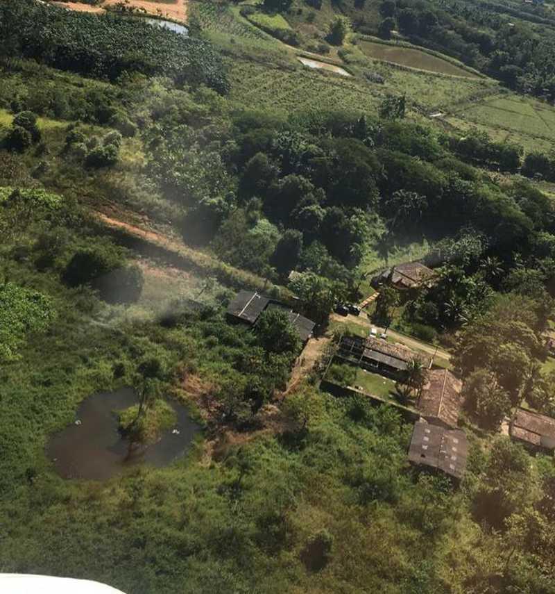 Polícia Civil fez voo aéreo no local e localizou canil irregular em Itariri, SP — Foto: Divulgação/Polícia Civil