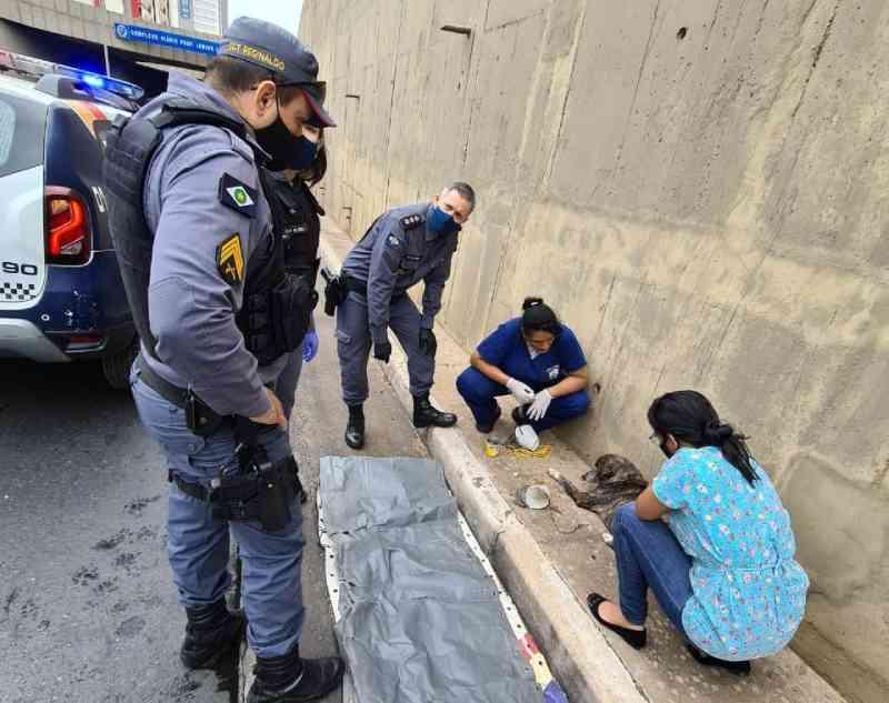 Policiais militares resgatam cadela arremessada na trincheira do Santa Rosa, em Cuiabá, MT