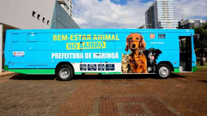 Unidade móvel do Bem-Estar Animal de Maringá (PR) vai oferecer atendimento descentralizado