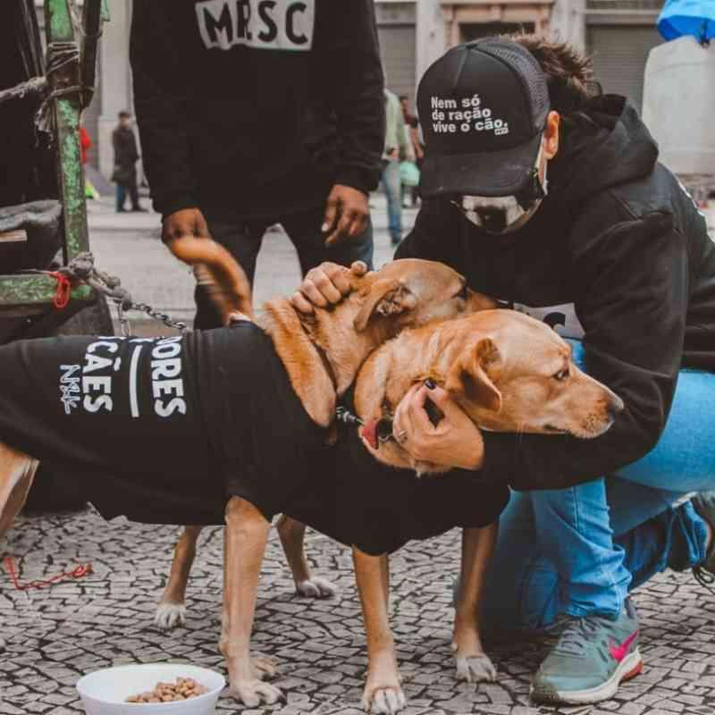 Ação doa moletons para animais e moradores de ruas em SP