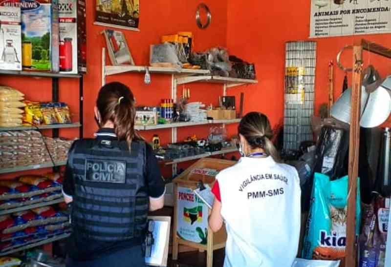 Polícia e Vigilância fazem operação contra o envenenamento de animais em Montenegro, RS