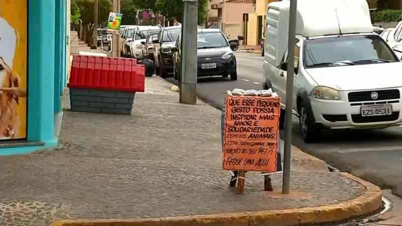 Loja doa ração para tutores de animais durante a pandemia em Araçatuba, SP