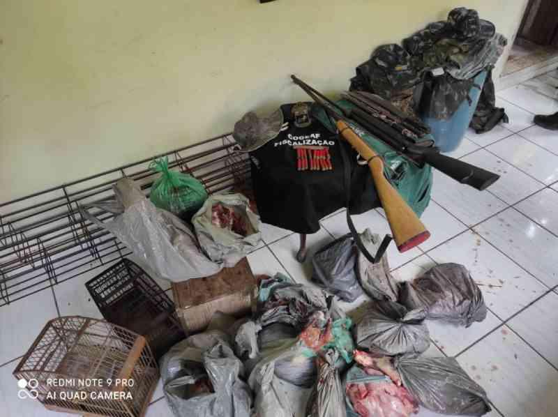 Operação conjunta desmonta abatedouro de animais silvestres no distrito de Tamoios, em Cabo Frio, RJ