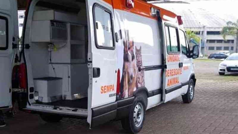 São Leopoldo transforma ambulância do SAMU em unidade de resgate animal